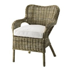 BYHOLMA armchair, grey, white