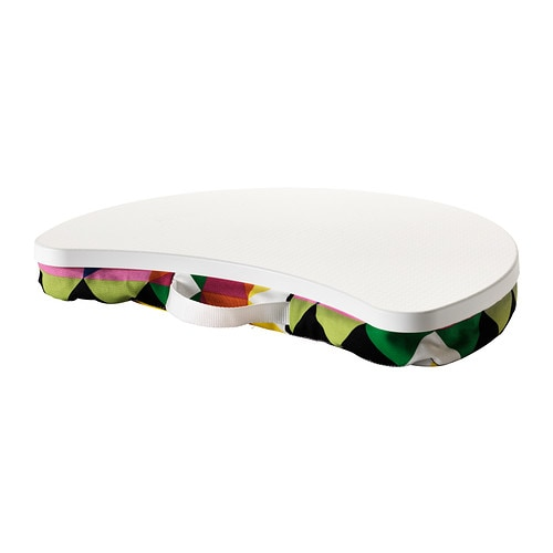 BYLLAN Laptop support, Majviken multicolour, white Majviken multicolour/white -