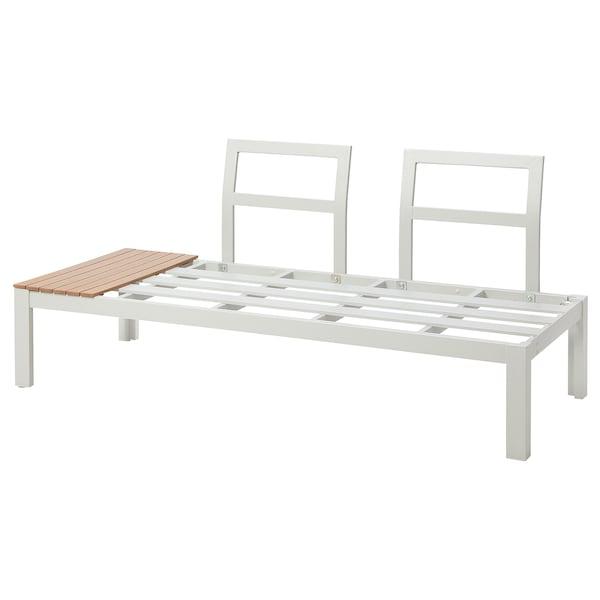 BYTTHOLMEN Frame 2-seat section, outdoor, light grey/light brown, 150x67 cm