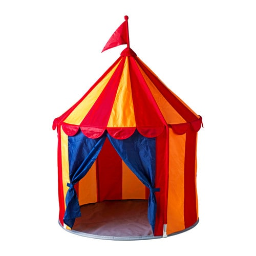 CIRKUSTÄLT Children's tent IKEA Creates a sheltered spot, a room in the room, to play or just cuddle up in.