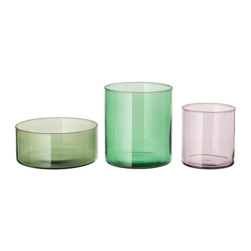 cylinder vase bowl set of 3 ikea. Black Bedroom Furniture Sets. Home Design Ideas