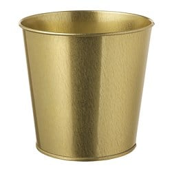 DAIDAI plant pot, brass-colour