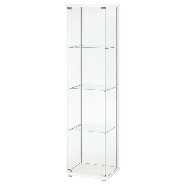 DETOLF Glass door cabinet white 43x163 cm
