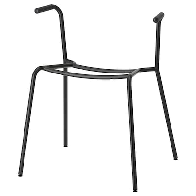 DIETMAR underframe for chair with armrests black 110 kg 53 cm 50 cm 65 cm 46 cm