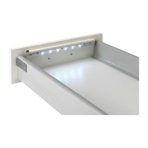 DIODER LED battery-operated lamp f drawer IKEA LED; emits low heat and can be used in narrow spaces such as drawers, shelves and wardrobes.