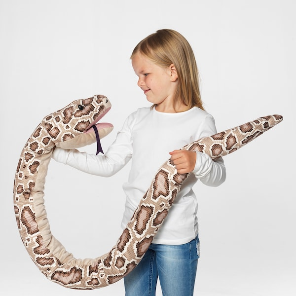DJUNGELSKOG Glove puppet, snake/burmese python