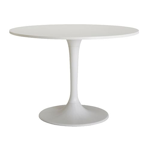 DOCKSTA Dining table, white Diameter: 105 cm Height: 75 cm