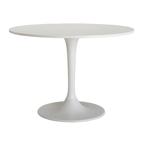 DOCKSTA Table IKEA A round table, with soft edges, gives a relaxed impression in a room.