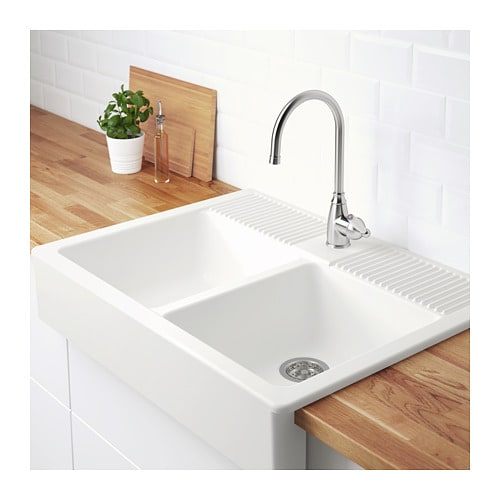 DOMSJÖ Onset Sink, 2 Bowls   IKEA