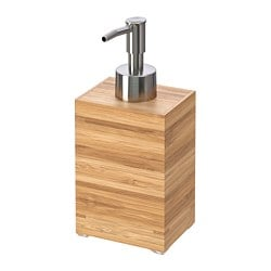 DRAGAN soap dispenser, bamboo