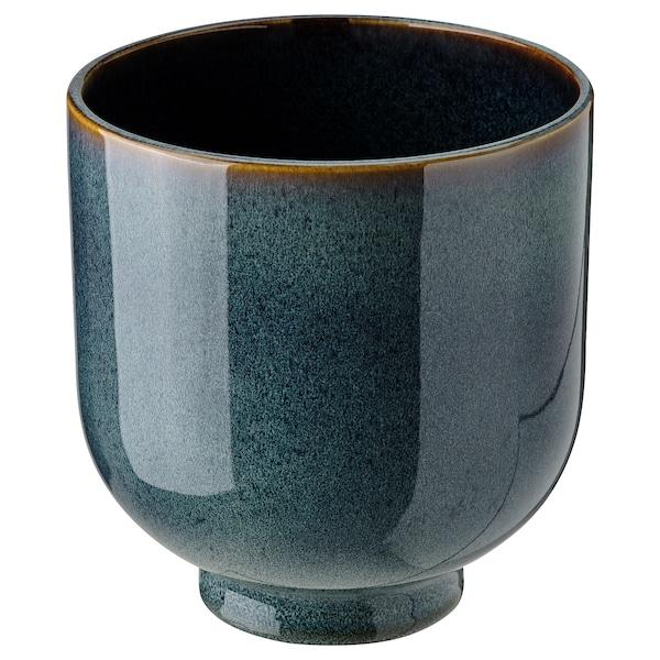 DRÖMSK Plant pot, in/outdoor dark blue, 15 cm