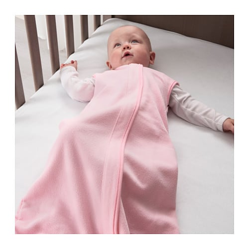 DRÖMLAND Sleeping bag IKEA Practical to bring along to create a cosy, familiar environment for your baby.