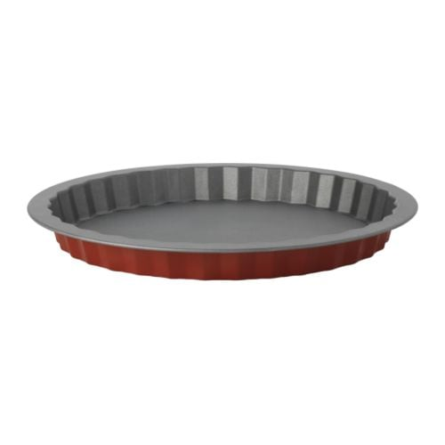DRÖMMAR Pie dish IKEA Loose bottom makes turning out the piecrust easy.  Non-stick Teflon®Classic coating for easy release of food and pastry.