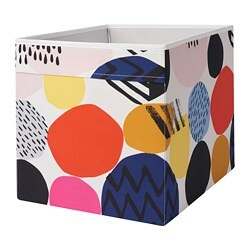 DRÖNA box, multicolour patterned