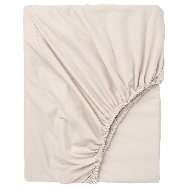 DVALA Fitted sheet, beige, Single