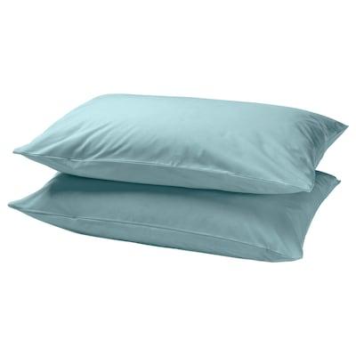 DVALA Pillowcase, light blue, 50x80 cm