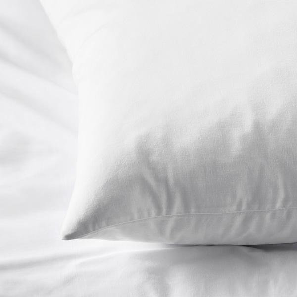 DVALA Pillowcase, white, 50x80 cm