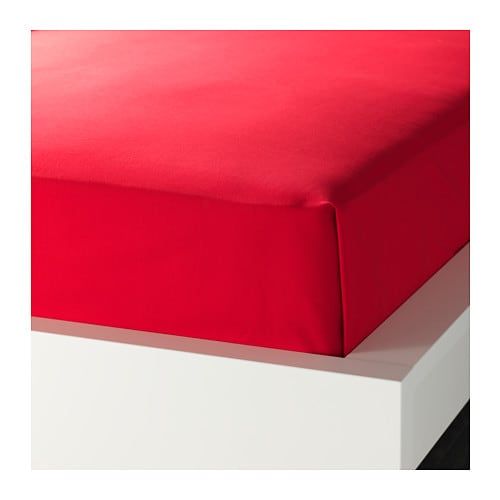 DVALA Sheet IKEA Cotton, feels soft and nice against your skin.  Fits beds that are 80-90 cm wide.