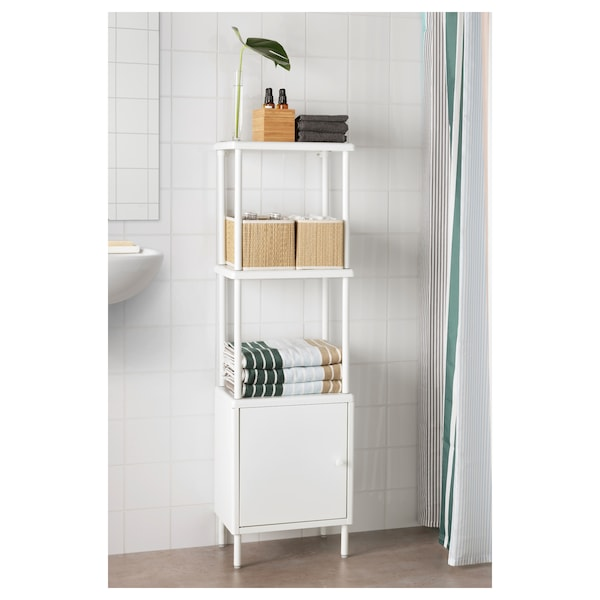 DYNAN Cabinet with door, white, 40x27x54 cm