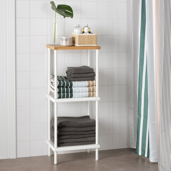 DYNAN shelf unit white/bamboo pattern 40 cm 27 cm 96 cm