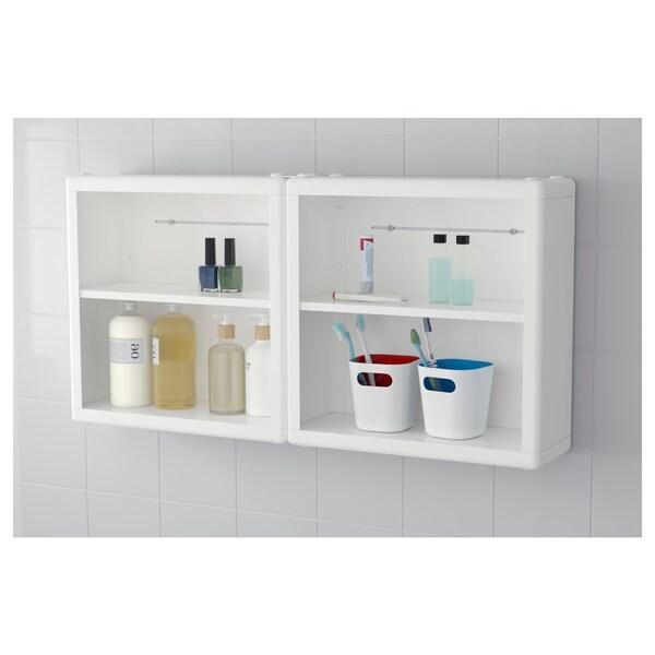 DYNAN Wall shelf, white, 40x15x40 cm