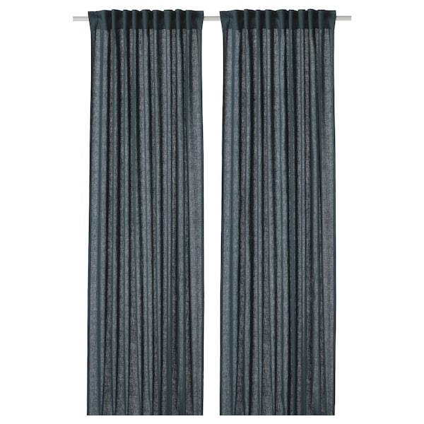 DYTÅG Curtains, 1 pair, blue, 145x250 cm