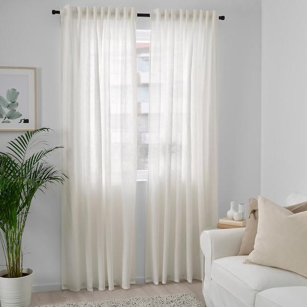 DYTÅG Curtains, 1 pair, white, 145x250 cm