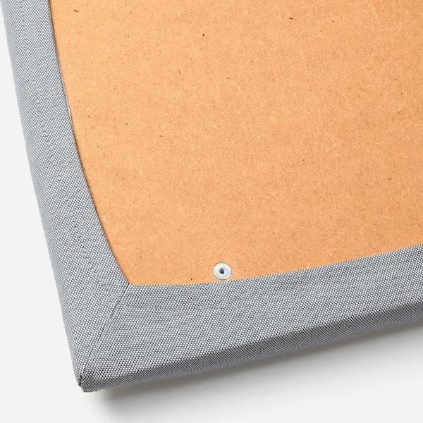 EKEDALEN Bar stool with backrest, dark brown/Orrsta light grey, 62 cm