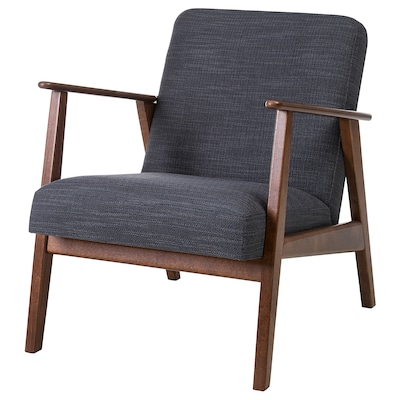 EKENÄSET Armchair, Hillared anthracite
