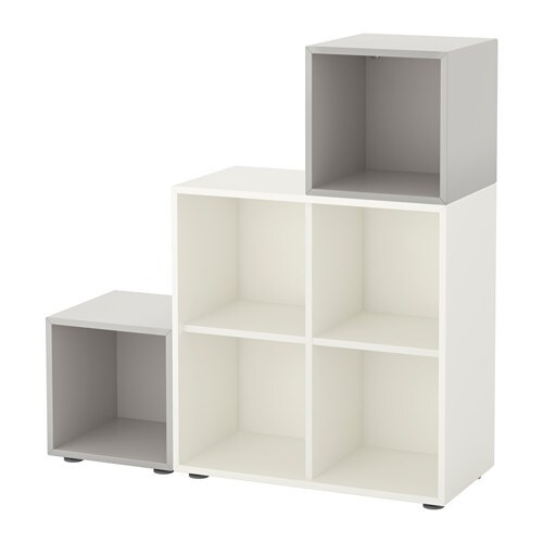 Eket cabinet combination with feet white light grey ikea - Mobile billy ikea ...