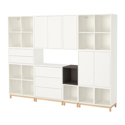 EKET Cabinet combination with legs  white dark grey  IKEA