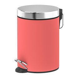 EKOLN waste bin, light red