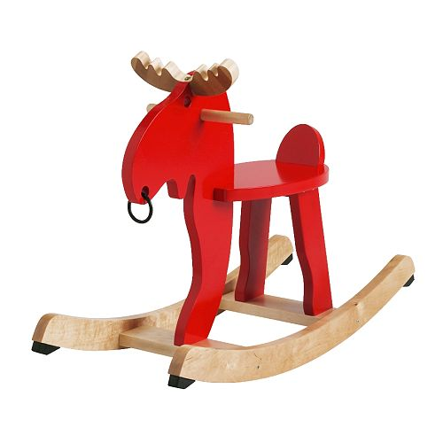 EKORRE Rocking-moose red Length: 73 cm Width: 29 cm Height: 52 cm
