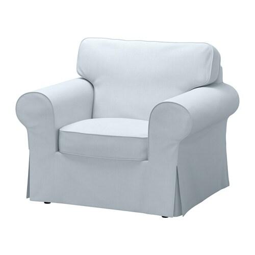Ektorp armchair nordvalla light blue ikea - Chaise fauteuil ikea ...