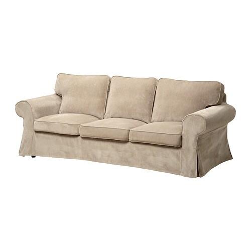 EKTORP Three seat sofa   Vellinge beige   IKEA