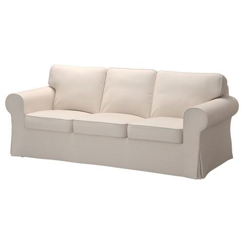 EKTORP three-seat sofa Lofallet beige 218 cm 88 cm 88 cm 49 cm 45 cm