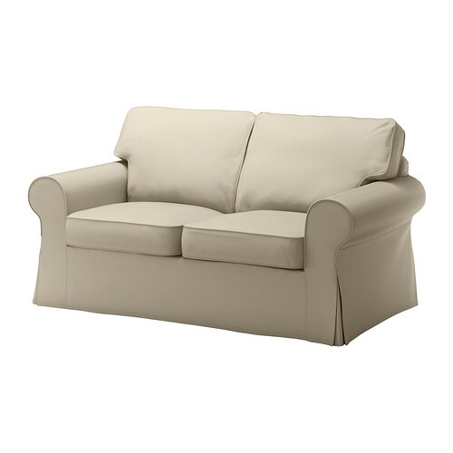 Ektorp two seat sofa tygelsj beige ikea Canape ektorp ikea