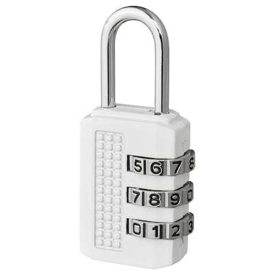 ELLOVEN Padlock, white