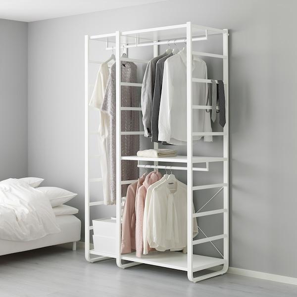 ELVARLI 2 sections, white, 125x55x216 cm