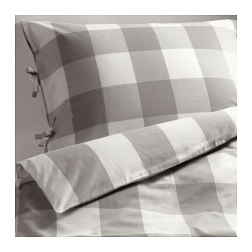 Emmie ruta quilt cover and 4 pillowcases 200x200 50x80 cm ikea - Copripiumini singoli ikea ...