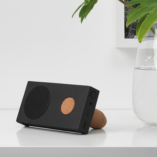 ENEBY Portable bluetooth speaker, black, 15x7.5 cm