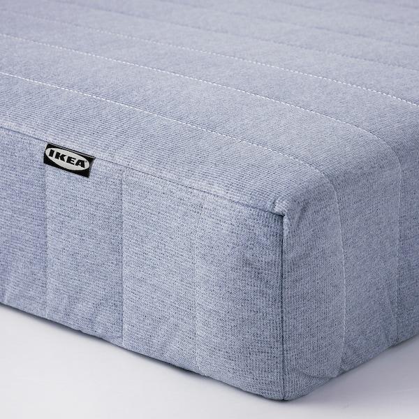 ESPEVÄR/VADSÖ Divan bed, white/extra firm light blue, Queen