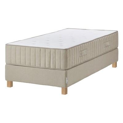 ESPEVÄR/VATNESTRÖM Divan bed, firm/natural, Single