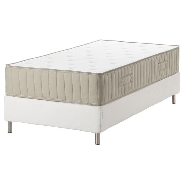ESPEVÄR/VATNESTRÖM Divan bed, white/firm natural, Single