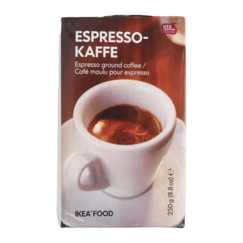 ESPRESSOKAFFE Espresso IKEA UTZ Certified; ensures sustainable farming standards and fair conditions for workers.