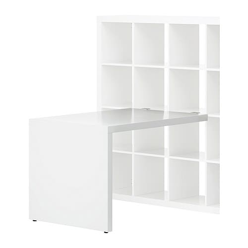 EXPEDIT Desk IKEA The table stands steady on uneven floors with the help of adjustable feet.