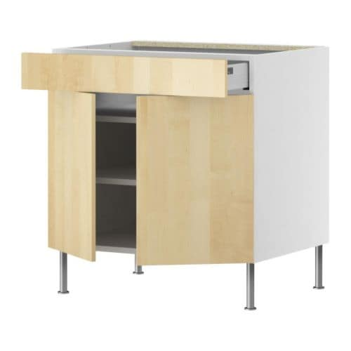 FAKTUM Base cabinet/shelves/drawer/2 doors IKEA