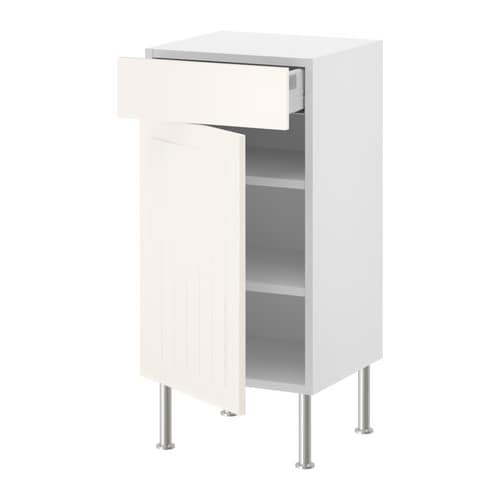 FAKTUM Base cabinet w shelf/drawer/door IKEA The drawers close slowly, quietly and softly thanks to the built-in dampers.