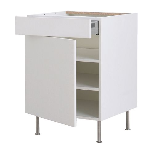 FAKTUM Base cabinet w shelf/drawer/door IKEA You can view and access what's inside, as the drawer can be pulled out all the way.
