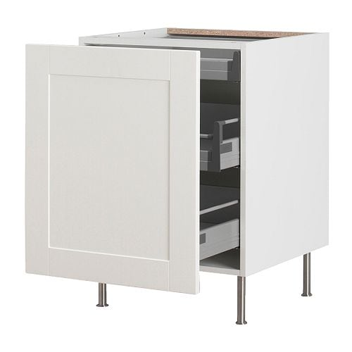 Faktum base cabinet with pull out storage del off white for 50cm kitchen cabinets